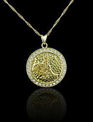 18K plaqué or véritable allah musulman pendentif zircon 2,9 * 3.9cm