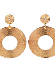 Fashion Women Gold/Silver Plated Big Round Shaped Earring Unique Crystal Statement Dangle Earrings Jewelry