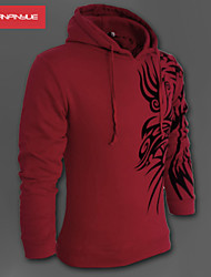 MANWAN WALK ® Men's Fashion Dragon Print Slim Fit  Zipper Hoodie