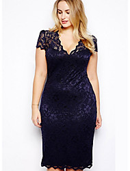 Sheffield Women's Sexy/Bodycon Short Sleeve Dresses (Lace)