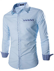 Dina Men's Long Sleeve Casual Shirts (Cotton)