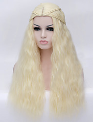 The New Cartoon Color Wig Golden Curly Hair Wigs