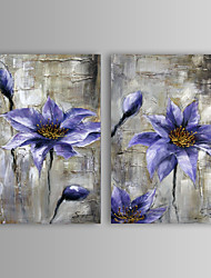 Oil Painting Modern Flower Hand Painted Canvas with Stretched Frame Set of 2
