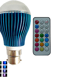1 pcs SchöneColors® B22 9W 3X3W LED Dimmable/21Keys Remote-Controlled/Decorative RGB Led Globe Bulbs AC85-265V