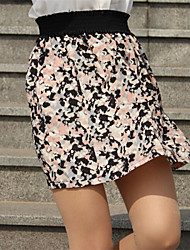 Women's Casual High Waist Floral Print Skirts