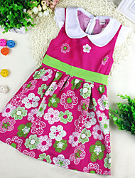 Girl's Fashion Floral Cotton Sundress Lovely Kids Clothing Party Princess Dresses(100% cotton)