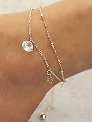 Hollow Flowers Alloy Anklet Daily/Casual 1pc