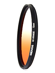 MENGS® 72mm Graduated ORANGE Filter For Canon Nikon Sony Fuji Pentax Olympus Etc Camera