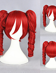 16inch VOCALOID Red Wave Anime Cosplay Wigs+2Ponytails