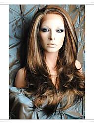 """sin cola llena del cordón / del frente del cordón del pelo humano pelucas color de la foto # 6/12/24 longitud 22 """"(necesita 28 días para hacer)"""
