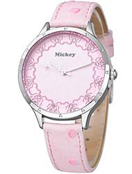 Unique design  clear dial crystal leather strap high quartz watches DC-51074