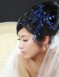 Femme Alliage Casque-Mariage Occasion spéciale Fleurs 1 Pièce