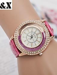 Montre Fashine diamant sables mouvants perle quartz analogique bracelet en cuir des femmes (couleurs assorties)