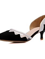 Women's Shoes Faux Suede Low Heel Pointed Toe Loafers Outdoor/Office & Career/Dress/Casual Multi-color