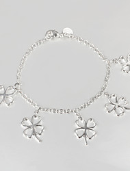 925 Silver Four Leaf Clover Bracelet Friendship Bracelets New Products