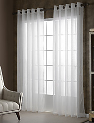Country Curtains® One Panel Ivory Solid Faux Linen Sheer Drape