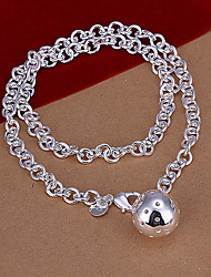 Top Silver Women's Beaded Silver Necklace