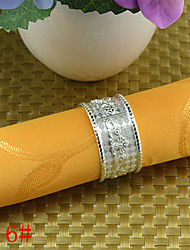 6PCcs Zinc Alloy Clouds Napkin Ring