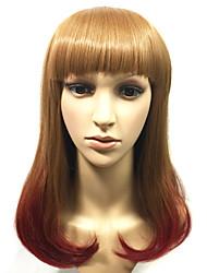 moda beleza essencial perucas de cabelo sintético de fibra reta resistente de alta tempreature alta qualidade preço baixo