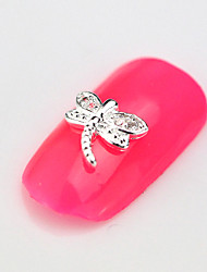 10PCS RG055 Dragonfly Luxury Mini Zircon 3D Alloy Nail art Decoration Diamond Nail Salon Supplier DIY Accessories