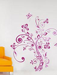 adesivos de parede decalques de parede, flores de parede pvc etiquetas