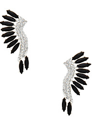 Imitation Diamond Simulated Diamond Wings / Feather Screen Color Jewelry