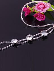 tobilleras de diamantes temperamento moda
