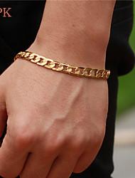 OPK®Personality Man Cool Green Copper Plating Men 18 K Gold Bracelet