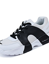 Men's Indoor Court Shoes Faux Leather/Tulle White