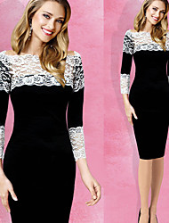 Women's Sexy/Bodycon/Casual/ Sleeve Dresses (Cotton/Polyester)