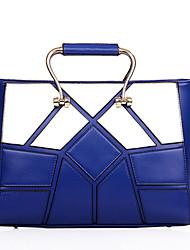 Women PU Casual / Outdoor / Shopping Tote Blue / Black