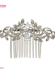 Neoglory Jewelry Alloy and Clear Rhinestone Hair Comb Accessories for Wedding Bridal