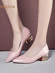 kumikiwa cuir véritable chaussures femmes classiques talons carrés chaussures plates dame bleu et rose chaussures k15cn1271