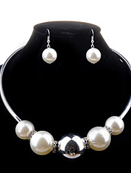 Women Alloy / Imitation Pearl Jewelry Set Necklace/Earrings Wedding / Party / Daily / Casual 1set