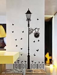 стикеры стены наклейки на стены, черные фонари наклейки стены PVC