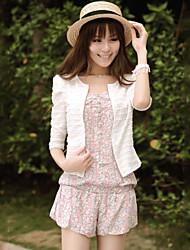 Women's Casual/Lace Thin ½ Length Sleeve Short Blazer (Lace/Cotton Blends)