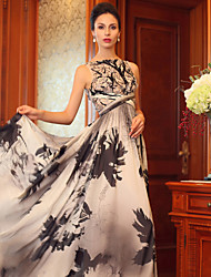 Formal Evening Dress Princess Bateau Floor-length Silk Dress