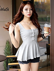Women's Gray Blouse Sleeveless