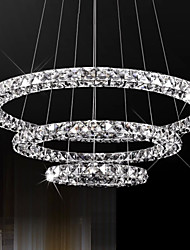 LED Pendant Lights Lighting Modern D405060 3 Rings Three Sides K9 Crystal Indoor Ceiling Lights Lamp Fixtures
