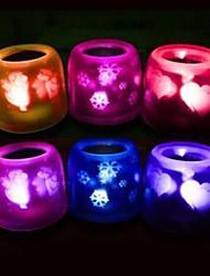 Multicolor Romantic LED Candle Pattern Night Light (Random Color)