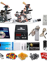Starter Tattoo Kit 2Machine Guns Power Supply Needles