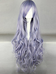 The New Wig Anime Characters Purple Smoke  Curly  Hair Wigs