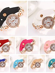 Women's   Diamante Round Dial Diamante Flower Band Wristwatches  (Assorted Color) C&d303 Cool Watches Unique Watches