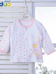 Ajiduo Baby Girls' Cute Cartoon Printed Pure Cotton Clothing Newborn Infant Tops