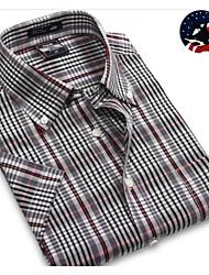U&Shark Casual&Dress Men's 100% Fine Cotton Short Sleeve Shirt  by American Wahsing/Dbmm-006