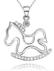KIKI 925 Silver Horse Pendant (not including the necklace)