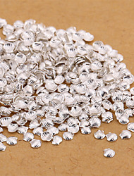 New 500PCS Small Silver Nail Art Jewelry Alloy Shell Slice Nail Art Stud for DIY Salon Nails Decorations