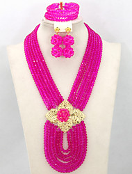 2015 New African Party Beads Jewelry Set Wedding Crystal Fashion Jewelry Set Hot