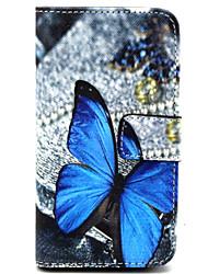 Pour Coque Nokia Portefeuille Porte Carte Avec Support Coque Coque Intégrale Coque Papillon Dur Cuir PU pour Nokia Nokia Lumia 630