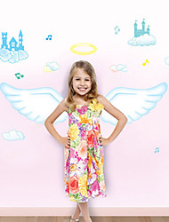 Wall Stickers Wall Decals, Cartoon Angel Wing PVC Wall Stickers